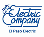 Logo for El Paso Electric, sponsor of Jennifer Ann's Group's prevention of teen dating violence through video games.
