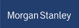 Logo for Morgan Stanley, sponsor of Jennifer Ann's Group's prevention of teen dating violence through video games.