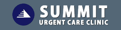 Logo for Summit Urgent Care, sponsor of Jennifer Ann's Group's prevention of teen dating violence through video games.