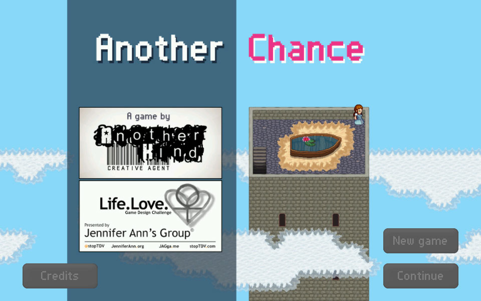 Screenshot of Another Chance, the 2015 award winning video game to prevent teen dating violence.