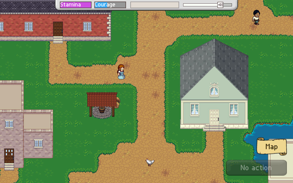 Screenshot of Another Chance game about relationships.