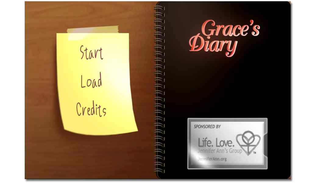 Screenshot of Grace's Diary video game