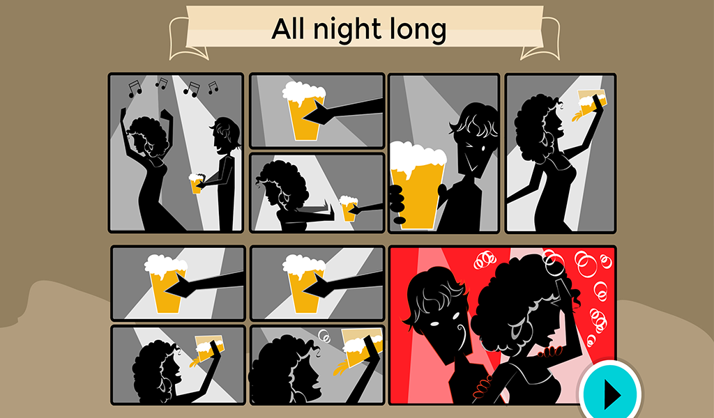 Screenshot of The Guardian game about relationships.